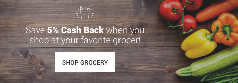 Earn 5% Cash Back on groceries!