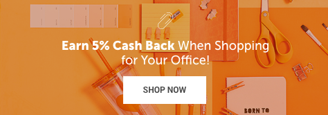 Earn 5% Cash Back on Office Supplies!